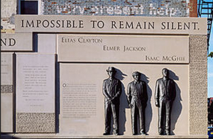 Duluth monument to three Black lynched men