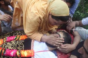 Funeral of Firdous Ahmad (Basit Zargar) Aug 1 2017