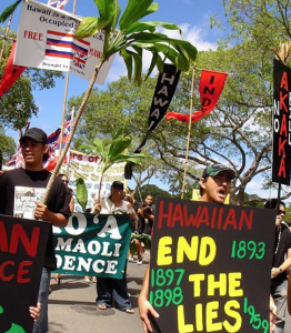 Hawaii independence protest (Zinn History project) Aug 25 2017
