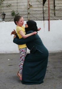 Heba reunited with her mother (2) August 7 2017