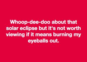 Solar eclipse meme