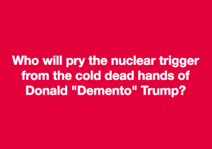 Who will  pry the nuclear... Aug 9 2017