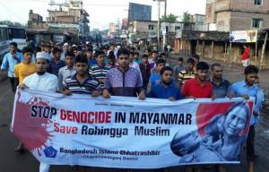 Baangladesh protest for Rohingya *tweeted CJ Werleman)