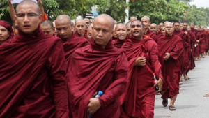 Buddhist monks march vs Rohingya in Burma (AFP) Sept 6 2017