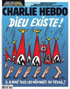 Charlie Hebdo Hurricane Harvey cartoon Sept 3 2017