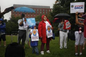 DACA protest Wash DC (AL Johnson:NPR)