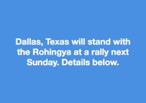 Dallas stands with Rohingya