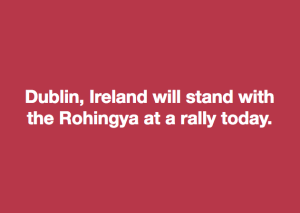 Dublin stands with Rohingya