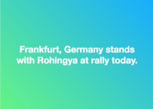 Frankfurt stands with Rohingya