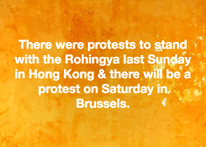 Hong Kong & Brussels stand with Rohingya