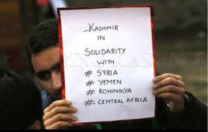 Kashmiri medical student in solidarity with Rohingya