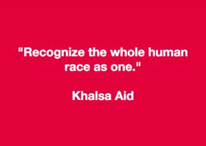 Khalsa Aid slogan