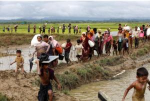 Lines of Rohingya at border (Mohammad Ponir Hossain) Sept 7 2017