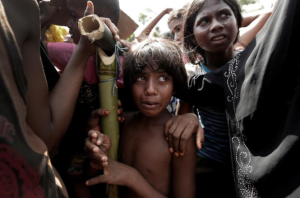 Little Ro girl in Cox's Bazar (Cathal McNaughton:Reuters) Sept 25 2017