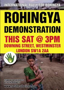 London Rohingya rally Sept 9 2017 (Dilruba Wadud)