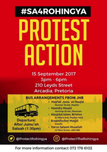 Pretoria stands with the Rohingya