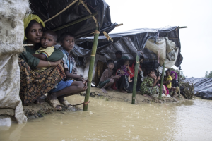 Ro refugees in flooded tents (Paula Bronstein:Getty Images) Sept 21 2017