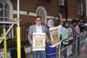 Rogingya solidarity at Burma embassy in London Sept 7 (Ro Nay San Lwin) Sept 7 2017