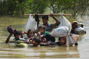 Rohingya in river Sept 18 2017