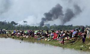 Rohingya on Burma-Bangladesh border ( Photograph- K.m. Asad:AFP:Getty Images) Sept 7 2017