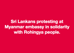 Sri Lankans stand with Rohingya