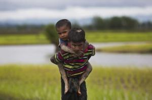 Unaccompanied Rohingya refugees (Bernat Armangue:AP) Sept 13 2017