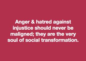 Anger & hatred vs. injustice meme