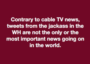 Cable TV & Trump meme