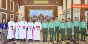Five Burmese bishops and Burmese military