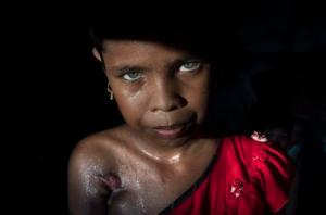 Ro 11-yr old Azida Begum (Paula Bronstein:Getty Images) Oct 24 2017