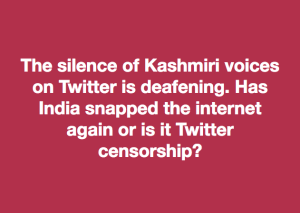 Silence of Kashmiris meme