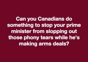 Trudeau crying meme