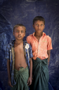 Two Ro refugee boys. Oct 2 2017