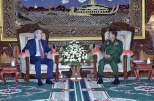 US ambassador Scott Marciel & Gen. Min Aung Hlaing (Coconuts Media Limited)  Oct 14 2017