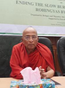 Bangladesh's leading monk (Sanghanayak Suddhanda Mahathero, at Nov 29 2017 conference