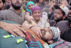 Funeral of Toib Majeed Mir (Kashmir Reflector) Nov 15 2017