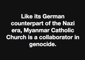 Maung Zarni on Vatican collaboration Nov 29 2017