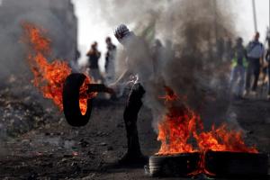 Protests at Kofr Qadom (Mohamad Torokman:Reuters) Nov 10 2017