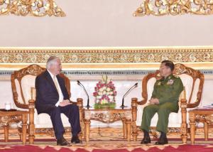 Rex Tillerson & Gen Min Aung Hlaing Nov 15 2017