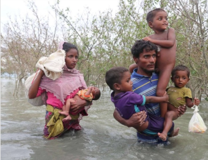 Ro family wading through Naf to asylum Nov 22 2017