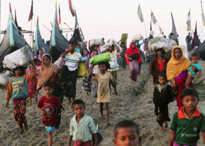 Ro refugees arriving from boats (REUTERS:Mohammad Ponir Hossain) Nov 9 2017