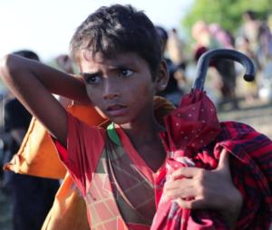 Rohingya refugee boy Nov 14 2017