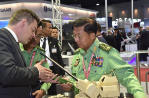Sr. Gen, Min Aung Hlaing at ASEAN Defense & Security 2017 in Thailand (from his FB wall) Nov 13 2017