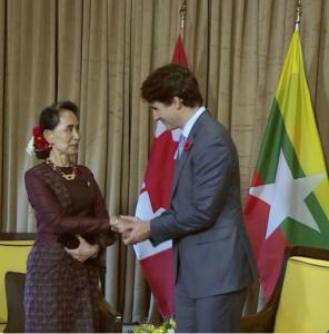 Suu Kyi & Trudeau Nov 11 2017
