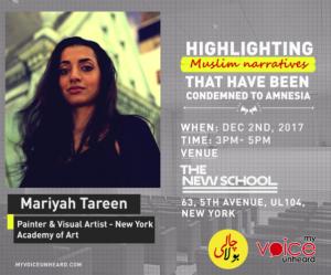Mariyah Tareen event in NYC
