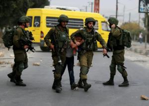 Pal boy arrested near Nablus DEc 20 (Ammar Awad:Reuters) Dec 20 2017