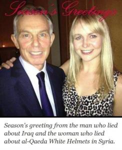 Tony Blair & Olivia Solon photoshop