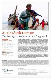 Toronto event for Rohingya Dec 6 2017