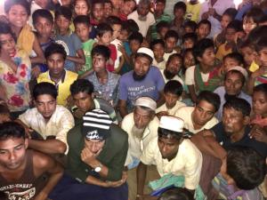 Tula Toli survivors viewing Shafiur Rahman film on massacre Dec 2 2017