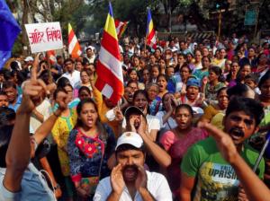 Dlit protests in Mumbai Jan 2 2018 (Reuters)